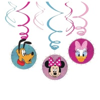 Colgantes decorativos de Minnie Mouse - 6 unidades