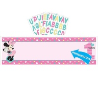 Mural decorativo personalizable de Minnie Baby - 165 x 50 cm