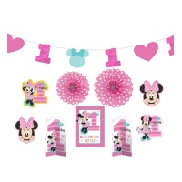 Kit decorativo de Minnie Baby - 10 unidades