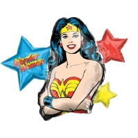 Globo silueta XL de Wonder Woman - 83 x 66 cm
