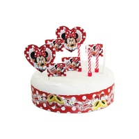 Decoración para tarta de Minnie Mouse - 19 unidades
