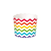 Wrappers de cupcake chevron multicolor - 24 unidades