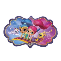 Globo silueta XL de Shimmer and Shine - 68 x 40 cm