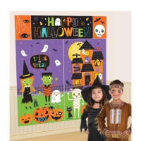Mural decorativo de Happy Halloween
