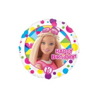 Globo redondo de Barbie Happy Birthday - 43 cm