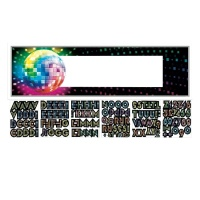 Mural decorativo personalizable de Disco - 165 x 50 cm