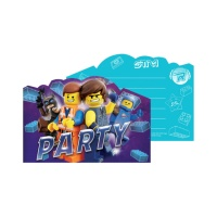 Invitaciones de Lego Movie 2 - 8 unidades