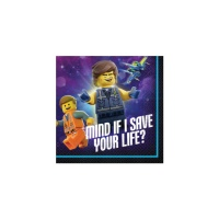 Servilletas de Lego Movie 2 de 25 x 25 cm - 16 unidades