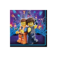 Servilletas de Lego Movie 2 de 33 x 33 cm - 16 unidades