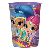 Vaso de plástico de Shimmer and Shine de 473 ml