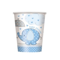 Vasos Blue Elephant Party de de 266 ml - 8 unidades