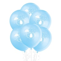 Globos Blue Elephant Party de 30 cm - 8 unidades