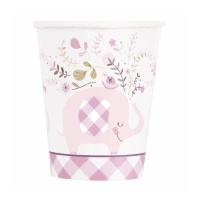 Vasos Pink Elephant Party de 266 ml - 8 unidades