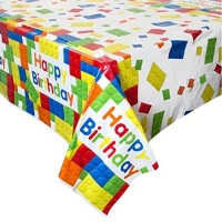 Mantel de Lego Happy Birthday - 1,37 x 2,13 m