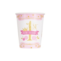 Vasos de Pink and Gold de 266 ml - 8 unidades