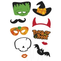 Kit para photocall de Halloween de monstruos - 10 unidades