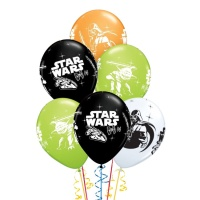 Globos de látex de galaxia Star Wars de 30 cm - Qualatex - 6 unidades