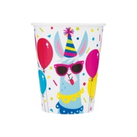 Vasos de Llamas Party de 270 ml - 8 unidades