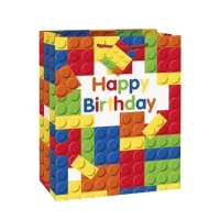 Bolsa de regalo de Lego Happy Birthday - 1 unidad