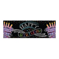 Mural decorativo de Black Birthday