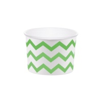 Tarrinas chevron verdes de 266 ml - 6 unidades
