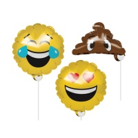 Kit para photocall hinchable de Emoticonos - 3 unidades