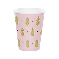 Vasos de Piña Tropical Hawaiana de 354 ml - 8 unidades