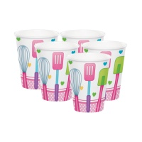 Vasos de Little Chef de 266 ml - 8 unidades