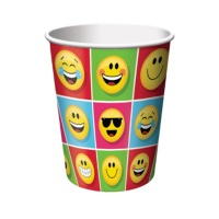 Vasos de Emoticonos de 266 ml - 8 unidades