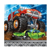 Servilletas de Monster Trucks de 25 x 25 cm - 16 unidades