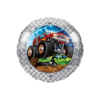 Globo redondo de Monster Trucks - 45 cm
