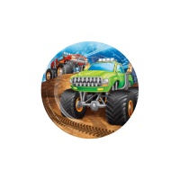 Platos de Monster Trucks de 17 cm - 8 unidades