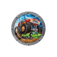 Platos de Monster Trucks de 22 cm - 8 unidades