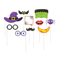 Kit para photocall de Halloween divertido - 10 unidades