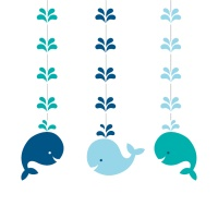 Colgantes decorativos de Little Whale - 3 unidades