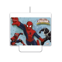 Vela decorativa de Spiderman de 7 x 9 cm - 1 unidad