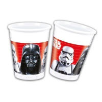 Vasos de plástico de Star Wars Darth Vader de 200 ml - 8 unidades
