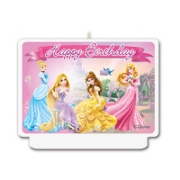 Vela decorativa de las Princesas Disney