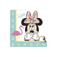 Servilletas de Minnie Tropical de 33 x 33 cm - 20 unidades
