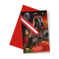 Invitaciones de Star Wars Darth Vader - 6 unidades