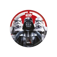 Platos de Star Wars Darth Vader de 23 cm - 8 unidades