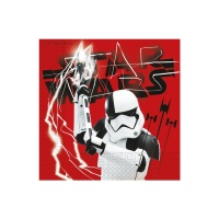 Servilletas de Star Wars The Last Jedi de 33 x 33 cm - 20 unidades
