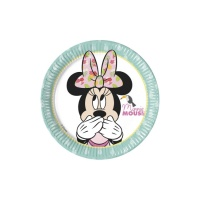 Platos de MInnie Tropical de 20 cm - 8 unidades