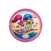 Platos de Shimmer and Shine de 23 cm - 8 unidades