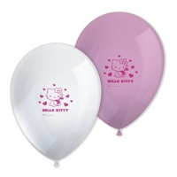 Globos de látex de Hello Kitty - 8 unidades