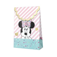 Bolsas de papel de Minnie Diamantes - 6 unidades