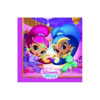 Servilletas de princesas Shimmer and Shine de 33 x 33 cm - 20 unidades