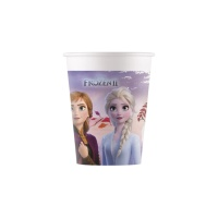 Vasos de Frozen II biodegradables de 200 ml - 8 unidades