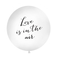 Globo de látex gigante Love is in the air negro de 90 cm - PartyDeco - 1 unidad