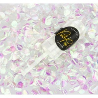 Confetti push pop blanco iridiscente - 1 unidad